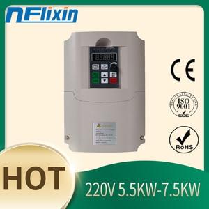 Frequency Converter,VFD Inverter 220V 5.5kw  Single-Phase Input Single-Phase Output Frequency Converter