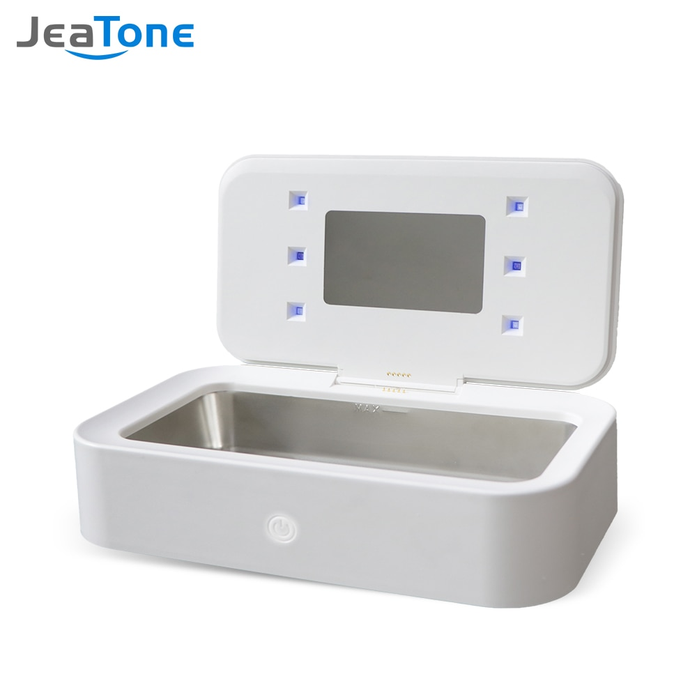 Jeatone Digital Ultrasonic Cleaner Ultrasonic Jewelry Glasses Cleaning Machine Ultrasound Jewelry Cleaner with UV disinfection