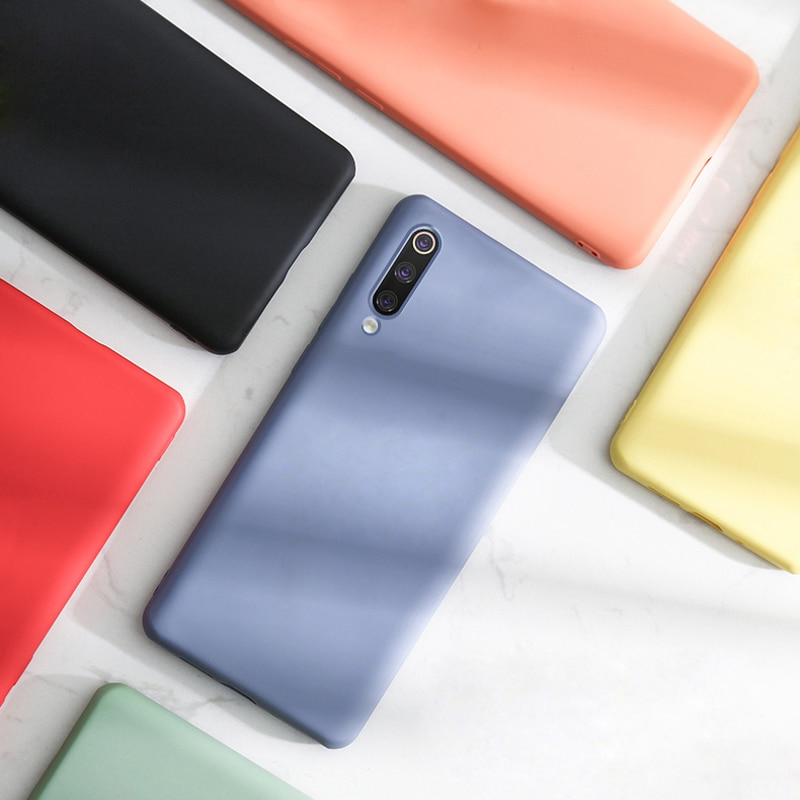 Soft Silicone Case For Xiaomi Mi 10 9 8 Mi9 SE 9T A3 Full Cover Cases For Redmi Note 9S 9 8T 8 T Pro 7 Note8 Note9 Note7 Note9S