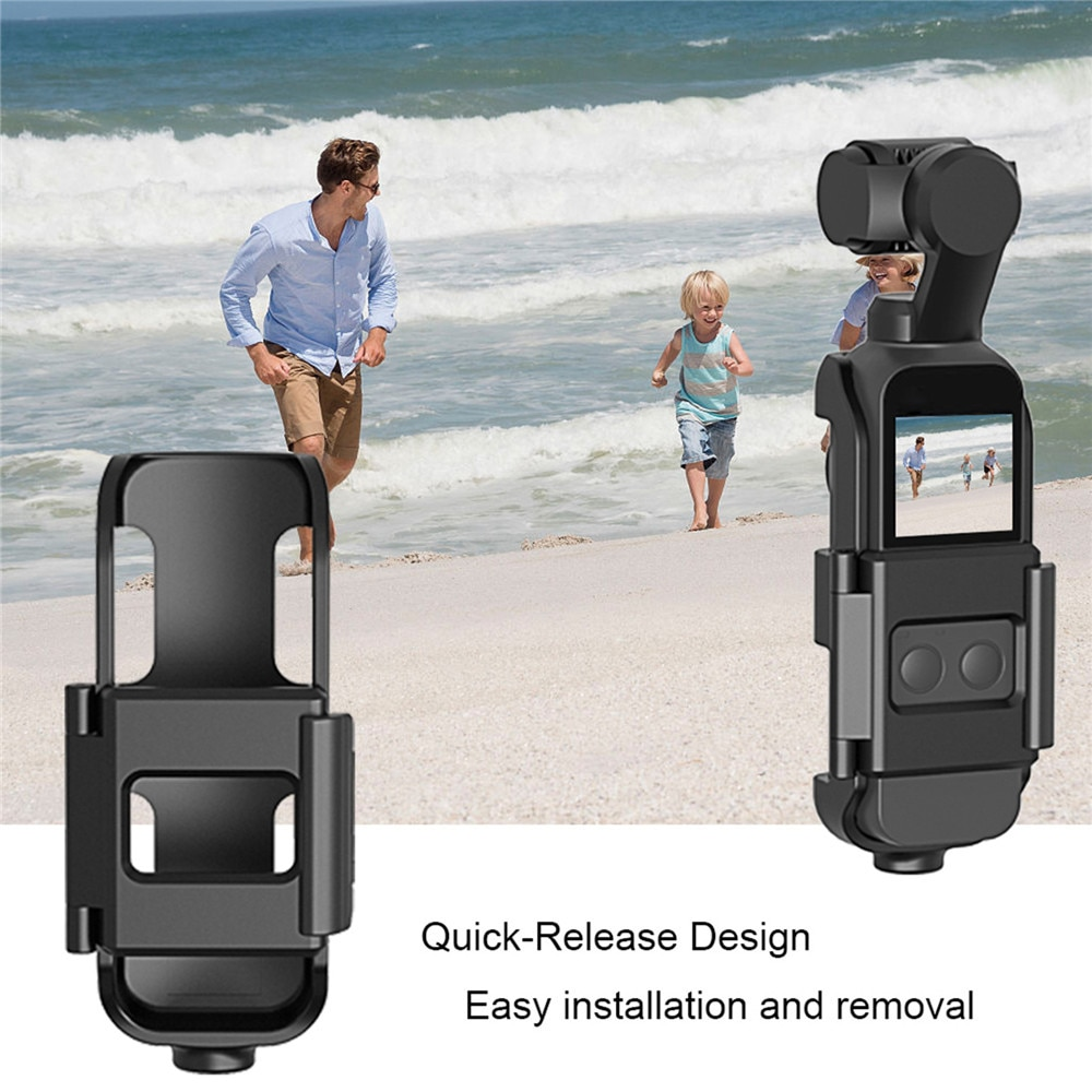 Soporte de montaje con tornillo 1/4 para interfaz de cámara de bolsillo DJI Osmo y soporte de Cámara de Acción para trípode Selfie Stick bicicleta