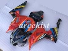 Moule dinjection pour moto ABS   kit de caronnages complets adaptés pour CBR1000RR 06 07 CBR1000RR CBR1000 2006 2007 ensemble corps requin personnalisé