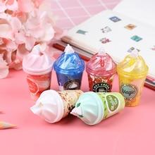 1Pc Random Milk tea cup ice cream correction tape Kawaii Stationery Office School Supplies 6m