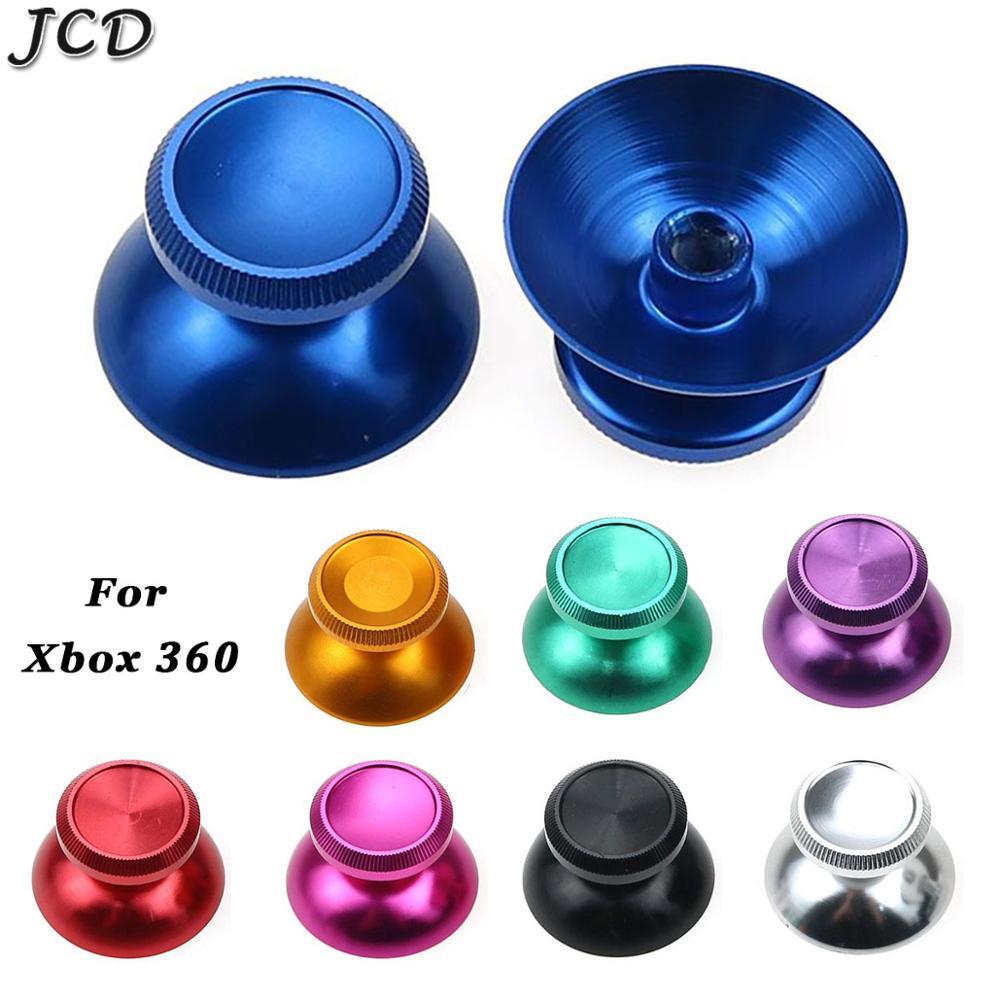 JCD 2 шт. Алюминий металлический аналоговый джойстик для пальца монопод Кепки Замена Ремонт Запчасти для Microsoft Xbox 360 геймпад