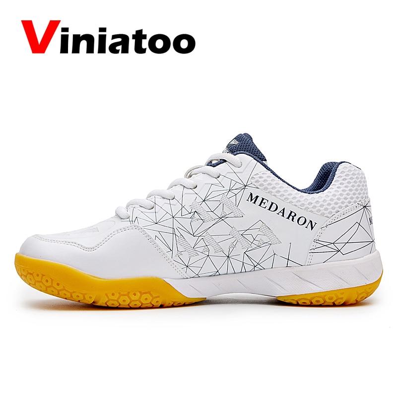 2020 Women Men Professional Badminton Shoes White Black Size 36-45 Tennis Sneakers Ladies Anti Slip Light Volleyball Shoes