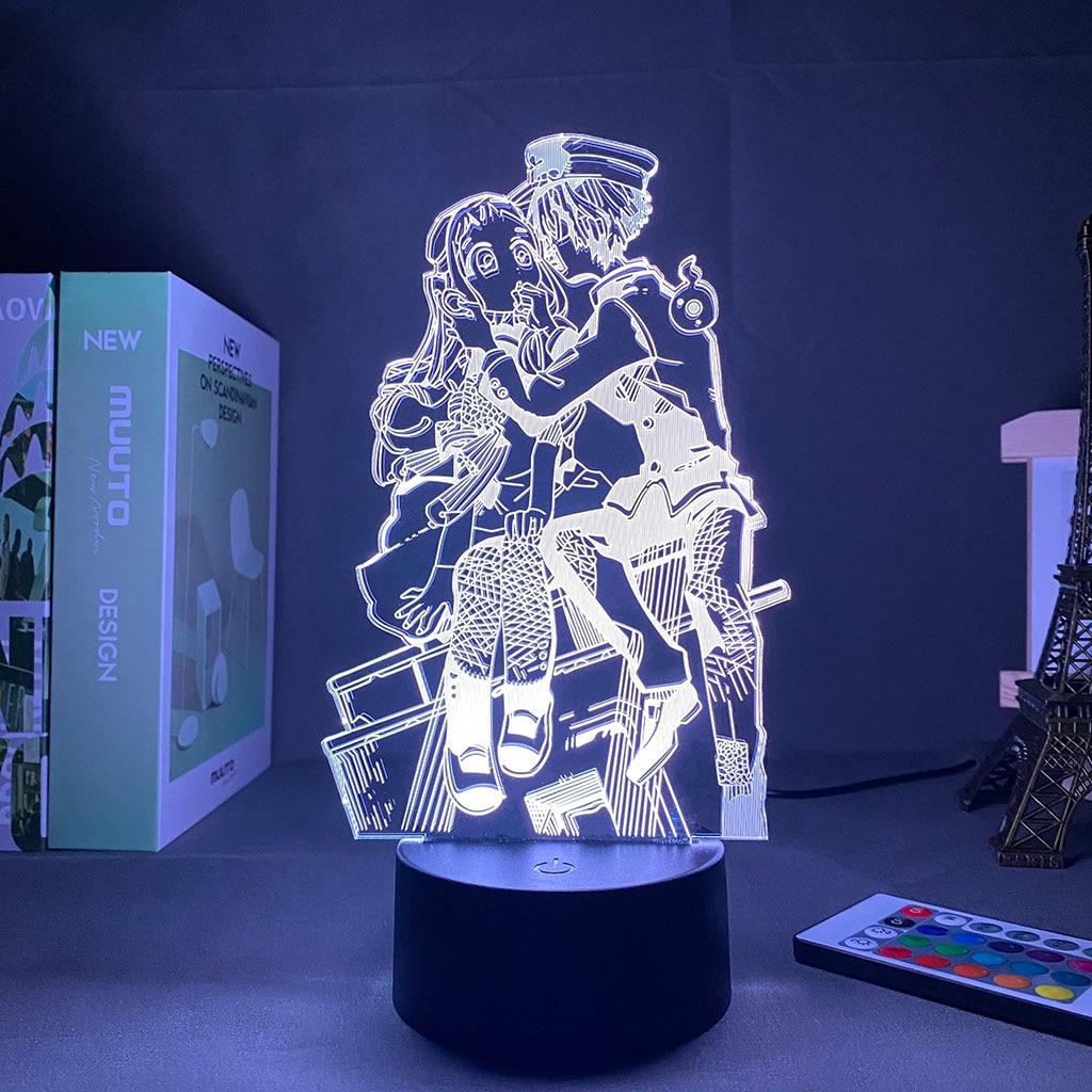LED Night Light Anime Toilet Bound Hanako Kun Light 3D remote control desk lamp Touch Sensor Nightlight