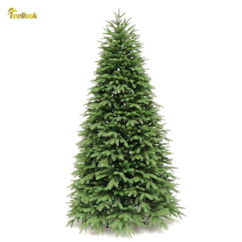 Teellook 1.2 متر/3.6 متر PE التشفير شجرة عيد الميلاد عيد الميلاد فندق مركز تسوق ديكور المنزل الحلي