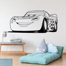 Vinyl Art Design Muursticker Lightning Mcqueen Auto Woondecoratie Kids Jongens Poster Muurschildering Leuke Decals LY1756