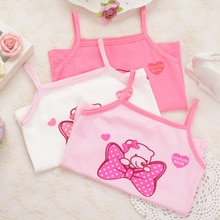 3pcs/Lot Summer Baby Undershirt Singlet Girls Shirts For Children Cartoon Cotton T-shirt Tops Camisoles Underwear Kids Tanks