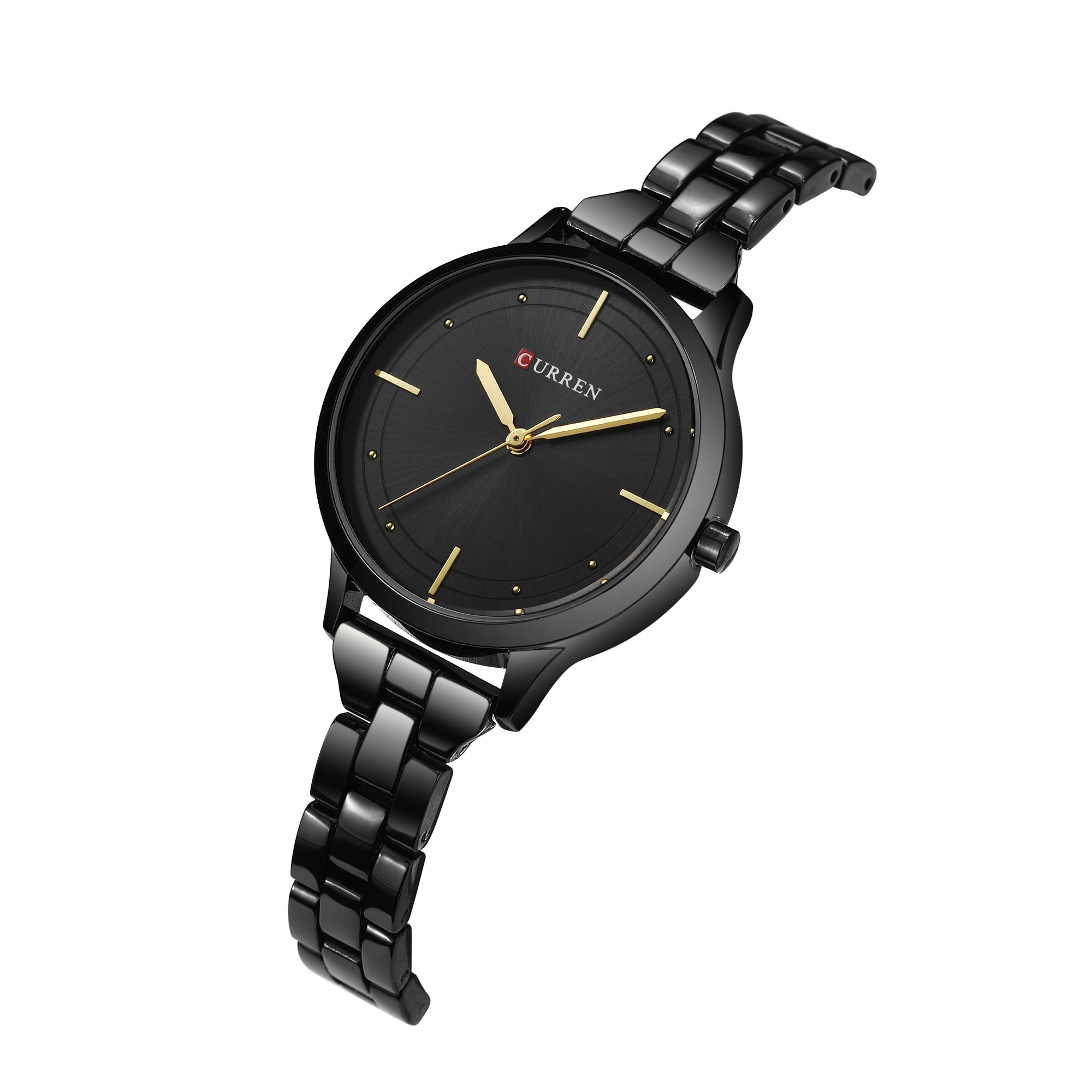 CURREN Casual Female Watch New Arrival Hot Sale Women Watches Quartz Wristwatches Black Stainless Steel Waterproof Reloj Mujer