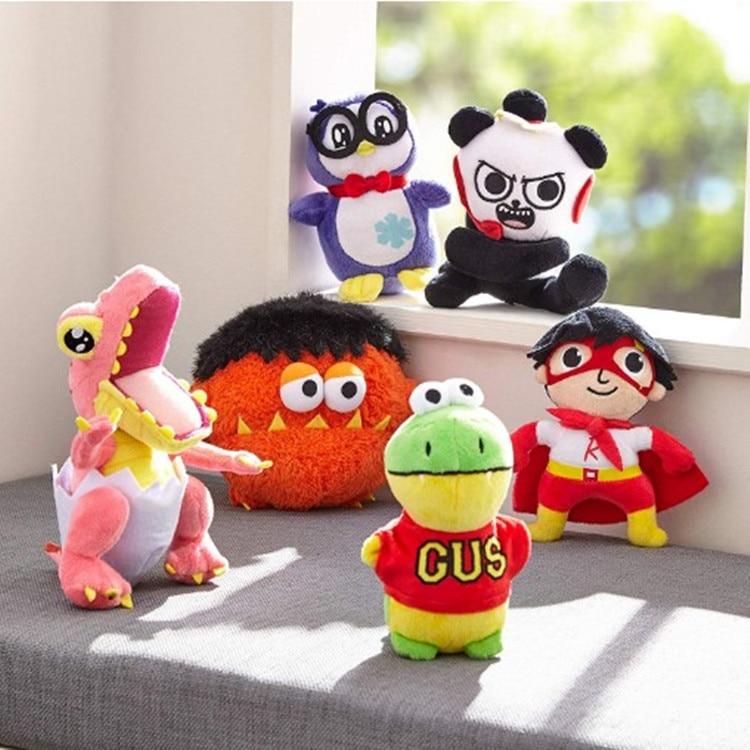 Skyleshine Nuovo Ryan Giocattoli Recensione Del Mondo di Giocattoli di Peluche di Ryan Moe Dinosauro Panda Pinguino Farcito Bambola Del Fumetto Giocattoli Per Bambini Di Natale regalo