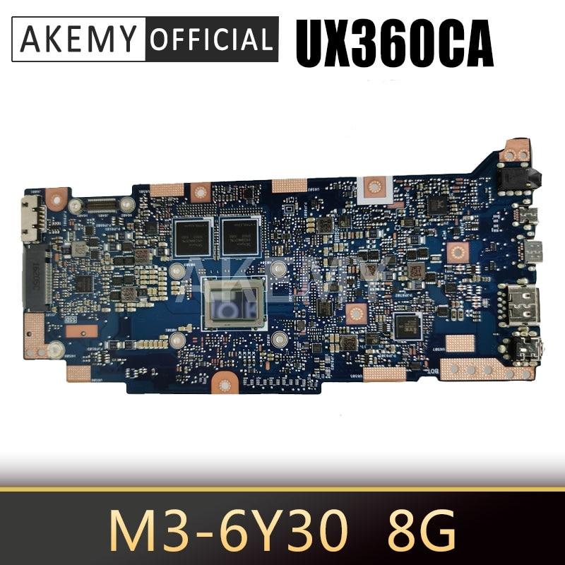 Akemy 90NB0BA0-R00080 Материнская плата ноутбука для ASUS UX360CAK UX360CA материнская плата 8G / M3-6Y30