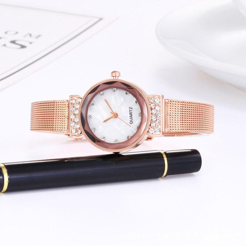 YUNAO Explosive Diamond Women's Watch 2021 New Trend Fashion Women's Watch Mesh Band Quartz Watch Mechanical Watch enlarge