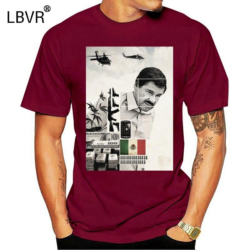 El chapo (mexico narco) camiseta masculina roupas de marca camiseta