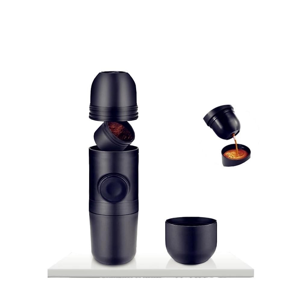 المحمولة الصغيرة اليد ضغط القهوة مسحوق آلة الطبخ كوب دليل بار الايطالية ماكينة الاسبريسو استخراج كوب