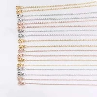 stainless steel necklaces double headed lobster clasp square rose goldsteel wide chain men women charms jewelry accessories