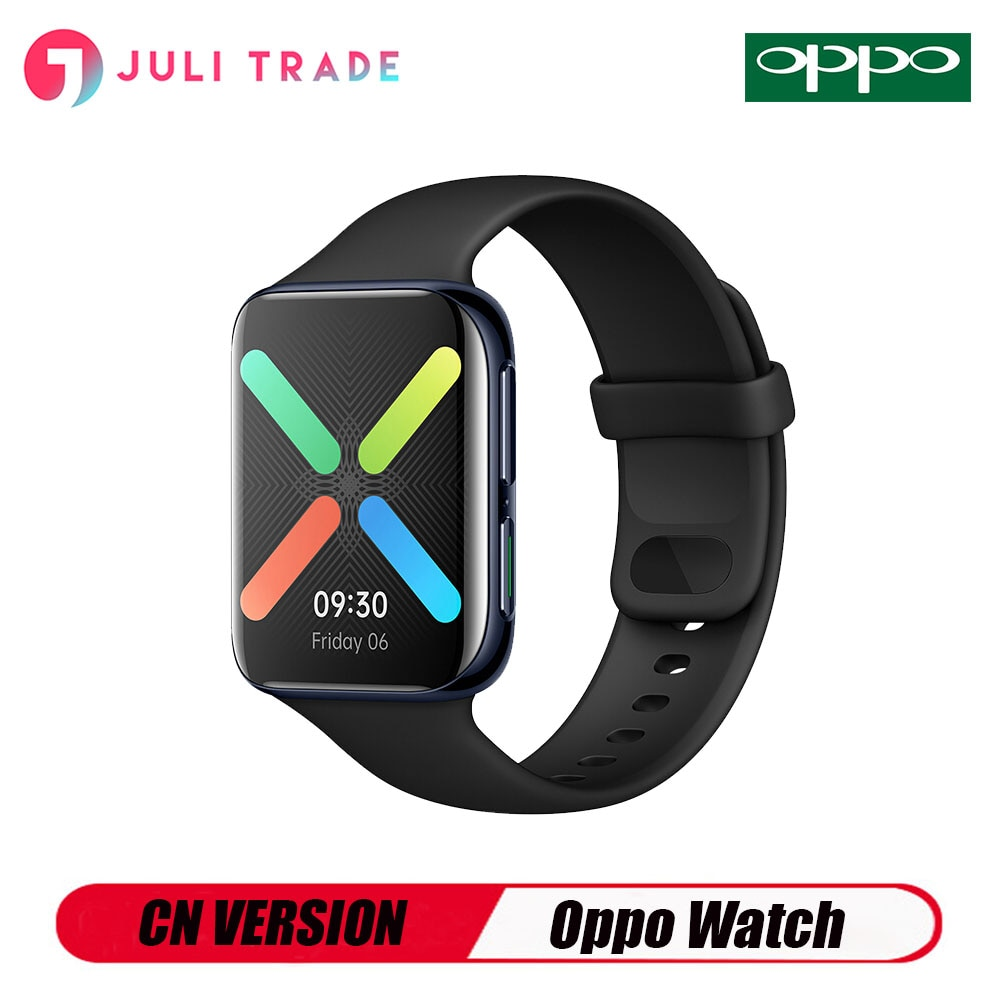 OPPO Watch 41/46 mm Smart Watch AMOLED Display GPS NFC Bluetooth 4.2 WiFi Wear OS Google Watch VOOC Quick Charge FunctionBlack