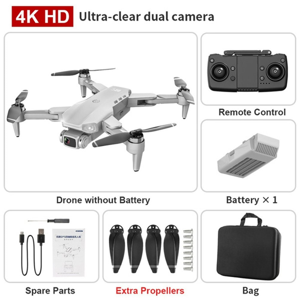 2021 L900 Pro 5G GPS 4K Drone with HD Camera FPV 28min Flight Time Brushless Motor Quadcopter Distance 1.2km Professional Drones