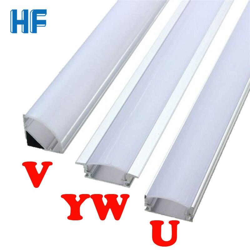 LED Aluminium Profile Channel Holder U/V/YW Shaped for LED Strip Light Bar Under Cabinet Lamp Kitchen Lighting  Accessories