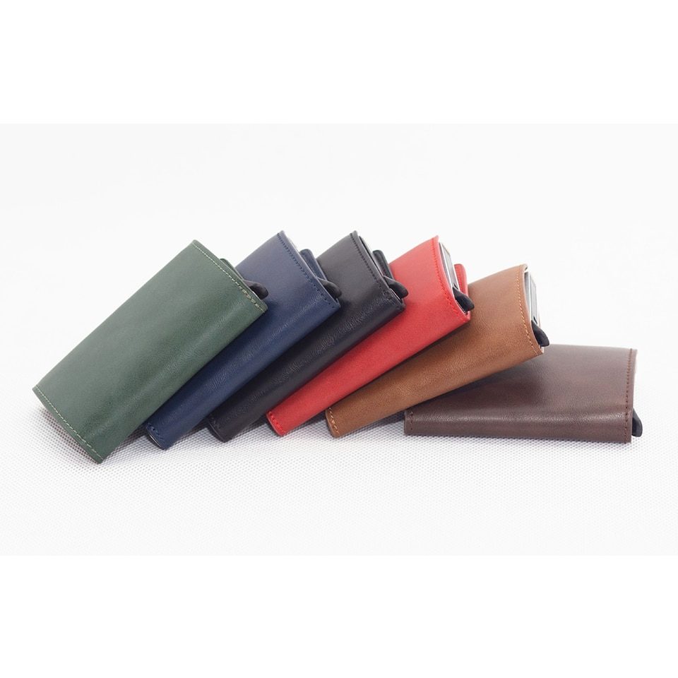 Hot Automatic Men Credit Card Holders Business ID Card Case Fashion RFID Blocking Card Holder Aluminium Bank Cards Wallets Women
