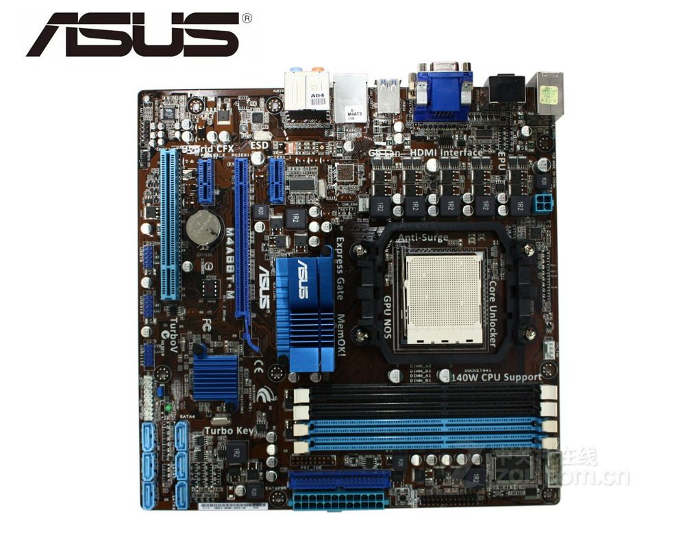ASUS M4A88T-M original motherboard Socket AM3 DDR3 16GB USB2.0 HDMI VGA DVI 880G used Desktop Motherboard