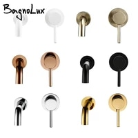 bagnolux black chrome rose gold brushed polished brass single handle hot cold water wall mounted embedded bathroom basin faucet