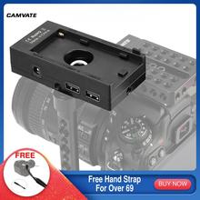 CAMVATE Sony NP-F970 Battery Mount Plate Adapter (WY-F01A)12V 8V DC 5V 9V With USB To Type C 3A Data