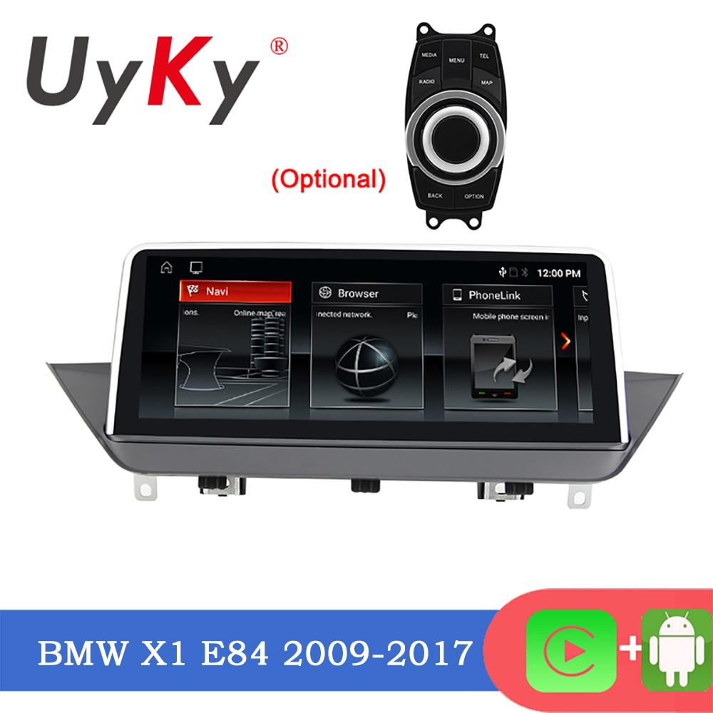 UYKY جهاز ملاحة للسيارة يعمل بنظام أندرويد 10.0 متعدد الوسائط لسيارة BMW X1 E84 2009-2015 نظام ملاحة جي بي إس DVD مشغل إستيريو للسيارة مزود بشاشة