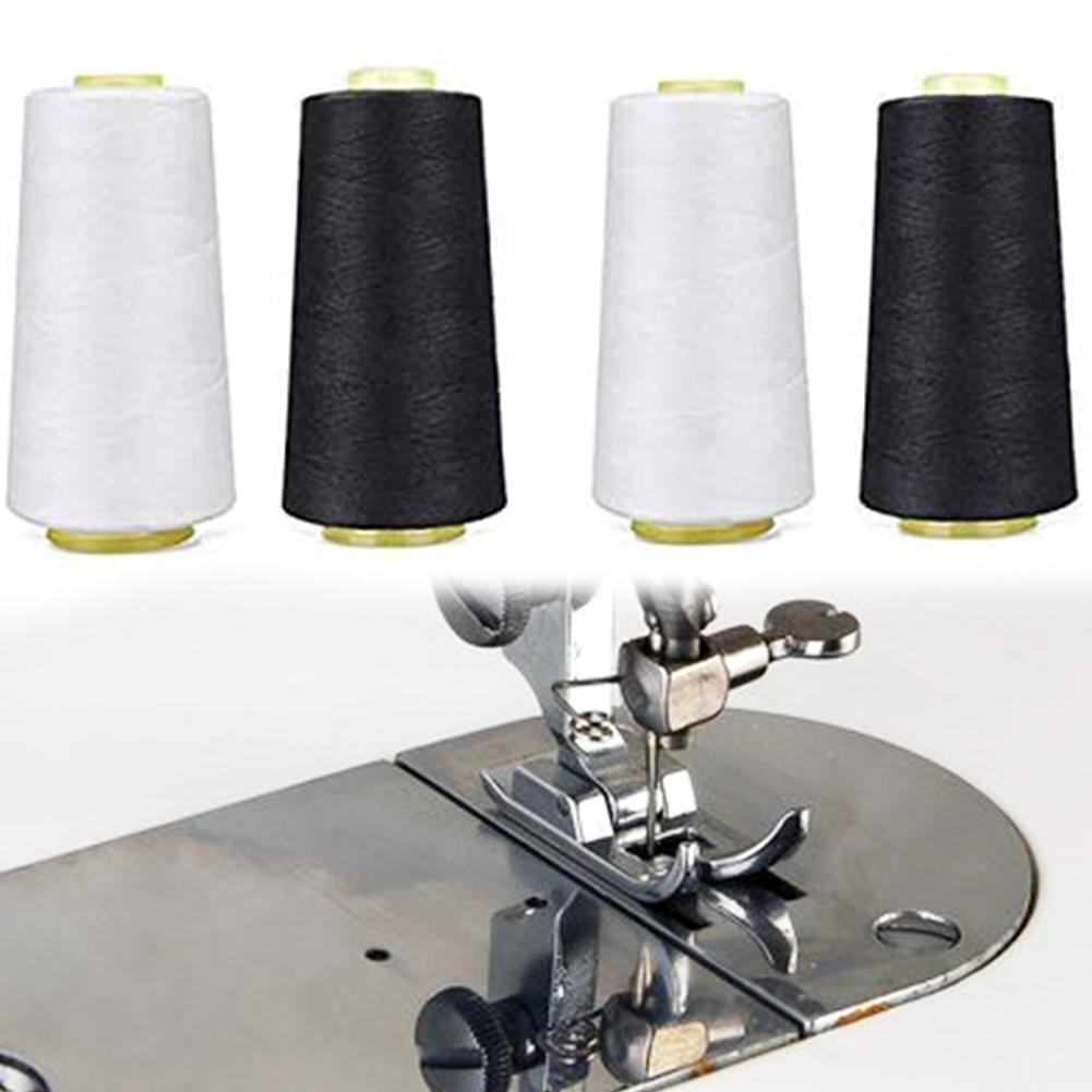 Máquina de coser de poliéster de 4 uds, 3000 yardas, cono de línea de bobina de hilo de sobrebloqueo de tela