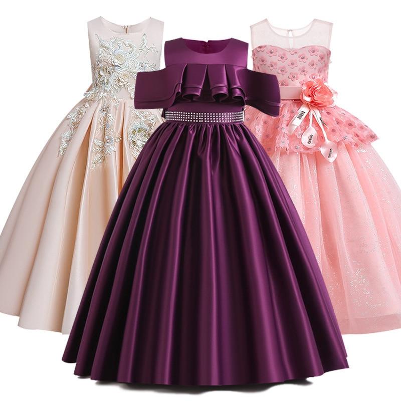 De niña-vestidos de desfile párr Vestido de primera comunión, de Vestido largo...