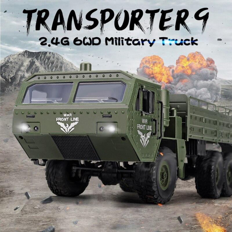 2020 Q75 RC Car 116 2,4 Ghz Radio Control coche militar todoterreno Rock Crawler RC vehículos juguetes para niños regalos vs HG P801 P802