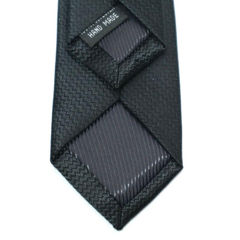 4 Pieces per lot  5CM Mens Ties Skinny Stripe Dots Black  Jacquard narrow Neck Ties  for Men Silm Wedding Party Gravatas Gift