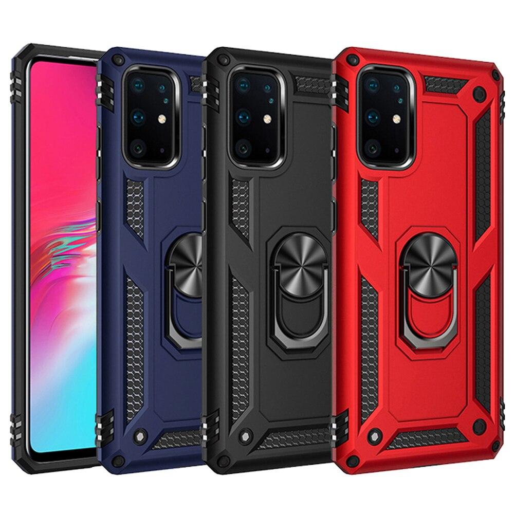 Fuerte imán armadura caso para Samsung Galaxy note 8 9 10 S8 S9 S10 pro S10E 5G J4 J6 A6 A7 A8 A9 2018 más A20 A30 A40 A50 A70