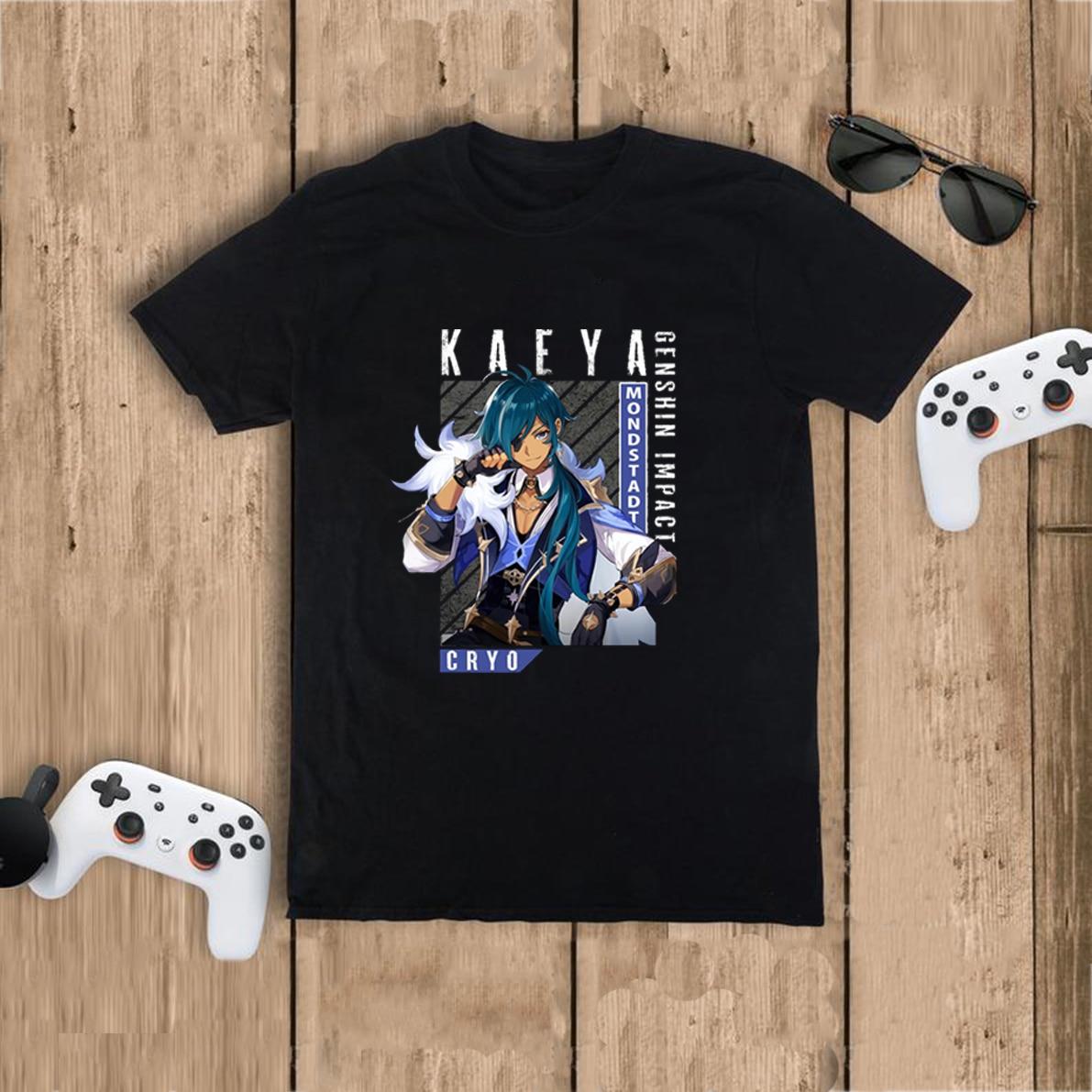Новые футболки с графическим принтом игры Genshin, женские футболки в японском стиле, повседневные футболки в стиле Харадзюку с рисунком
