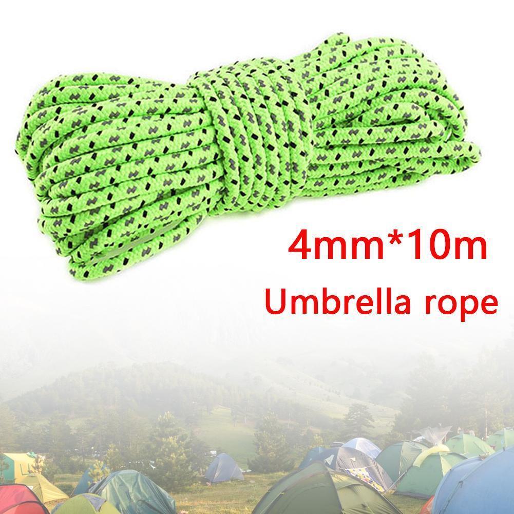 Acampamento ao ar livre touwen 4mm * 10m dikte luifel puxar refleterende winddicht acampamento parachute touw corda u2m3