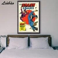 V019 1949 vous allez rugir  Affiche en soie personnalisee  Vintage  film classique  decoration murale  cadeau de noel