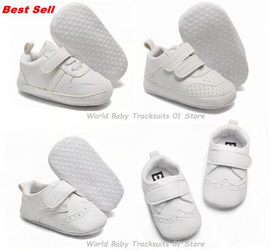 Best Selling Fashion Baby Boys/Girls Toddler Shoes Kids PU Leather Soft-Soled Anti-Slip Newborn Sneakers