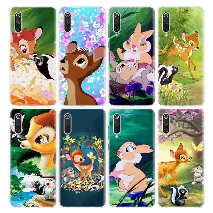 Klopfer Bambi Telefon Fall Für Xiaomi Redmi Hinweis 9s 8T 8 7 6 6A 8A 5 Pro Mi 9 8 CC9 10 K30 K20 F1 5X 6X Abdeckung Coque