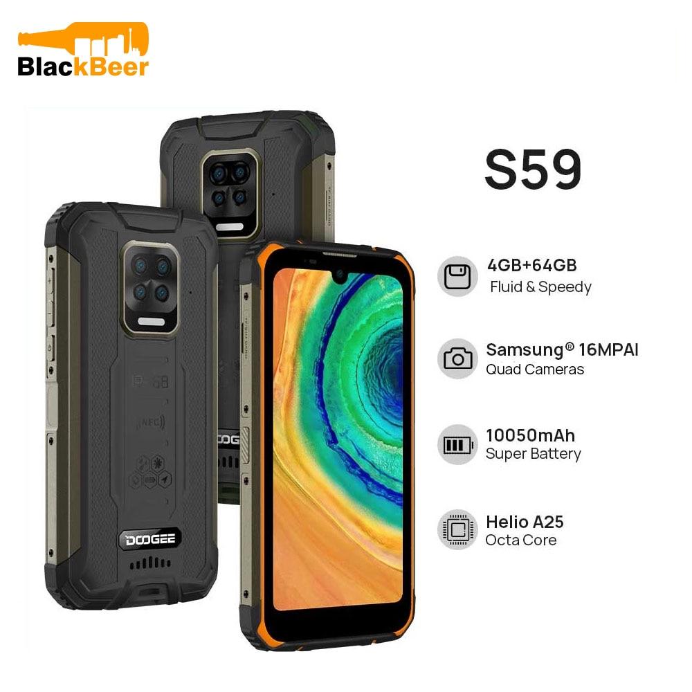 Перейти на Алиэкспресс и купить DOOGEE S59 смартфон с 5,5-дюймовым дисплеем, восьмиядерным процессором Helio A25, ОЗУ 4 Гб, ПЗУ 64 ГБ, Android 10, 10050 мАч