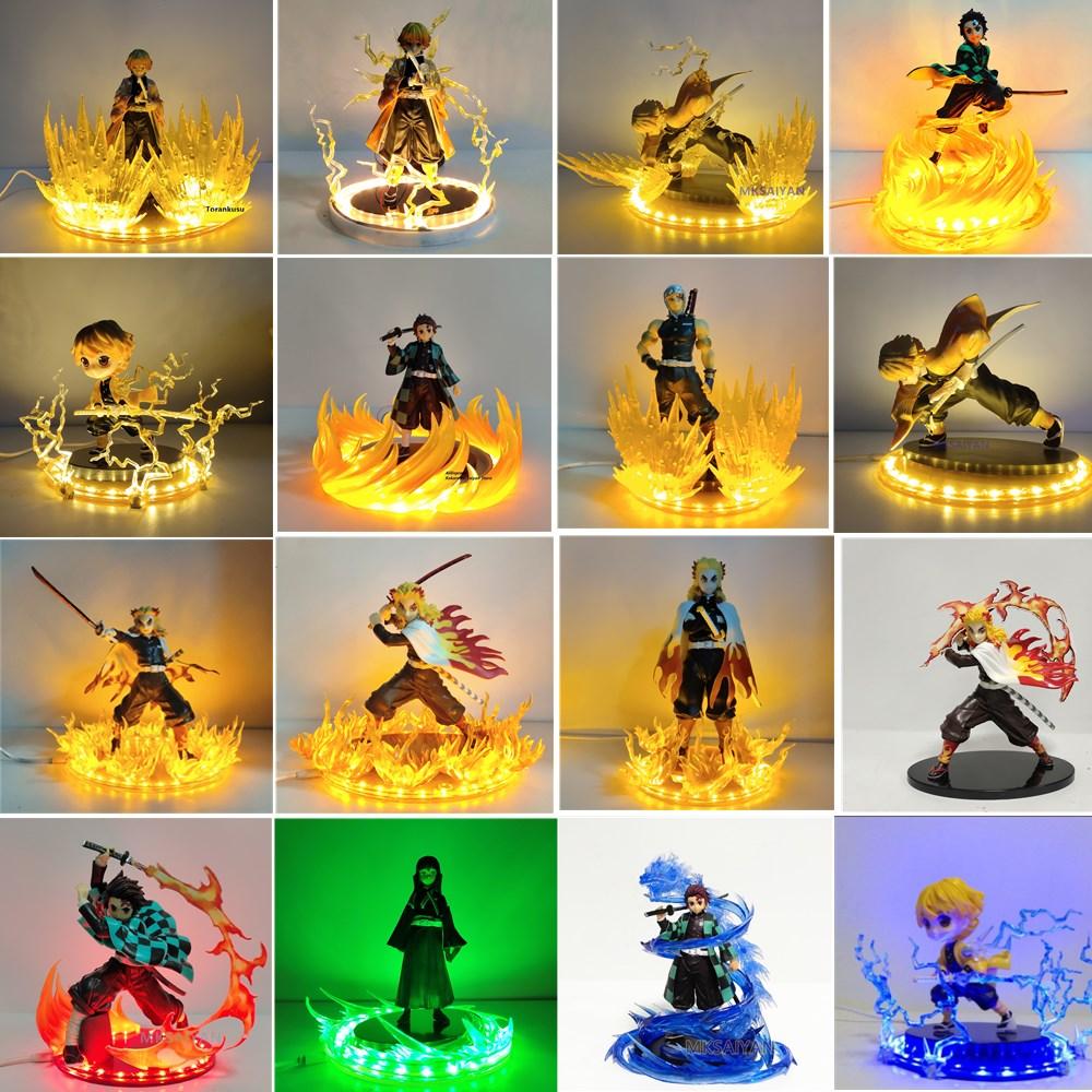 شيطان القاتل أنيمي الشكل لتقوم بها بنفسك مجموعة Tanjirou Zenitsu Rengoku Kyoujurou لعبة نموذج عمل الشكل كيميتسو لا Yaiba Rengoku هدية عيد الميلاد