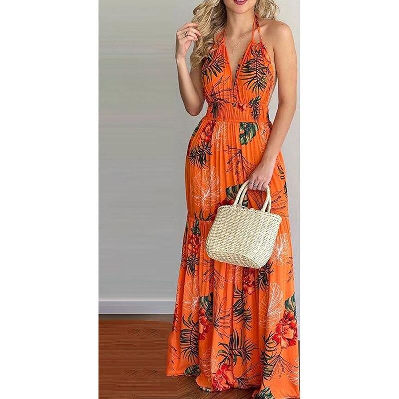 فستان طويل بطبعة زهور ، رسن ، رسن ، رسن ، رسن ، ماكسي ، بلا أكمام ، مرقع ، ملابس بحر مثيرة ، مجموعة صيف جديدة 2021
