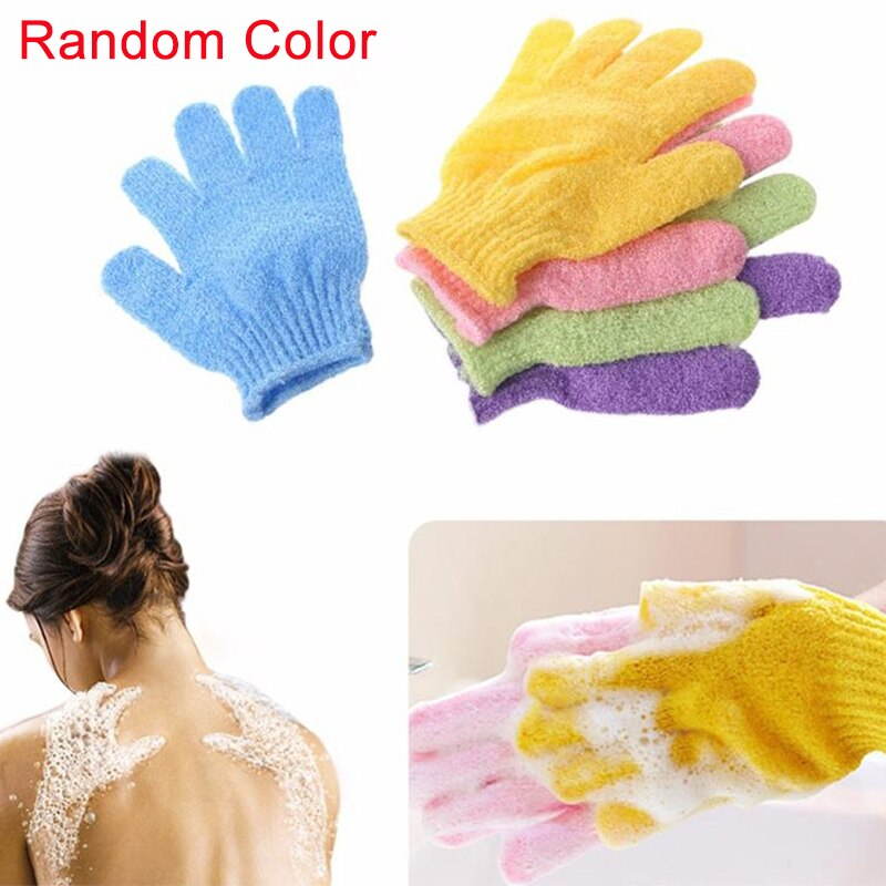 Exfoliating Bath Gloves Scrub Resistance Body Massage GlovePeeling Mitt Sponge Spa Foam Shower