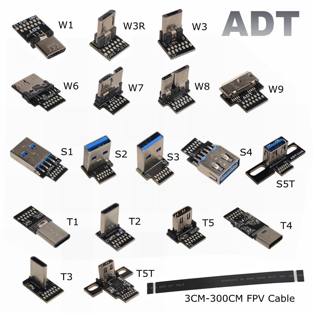 ADT DIY USB 2,0 de 3,0 Micro B 3,1 tipo-C FPV adaptador...