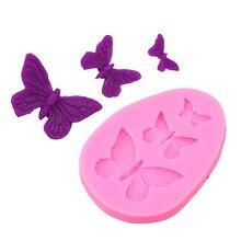 1 molde de mariposa de silicona en forma de Fondant, molde de pastel, molde de jabón, herramientas de cocina para hornear azúcar, gelatina galleta, decoración de pudín