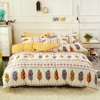 3pcs4pcs cartoon feather bedding sets soft duvet bed cover comforter flat sheet twin full queen king size free pillowcases