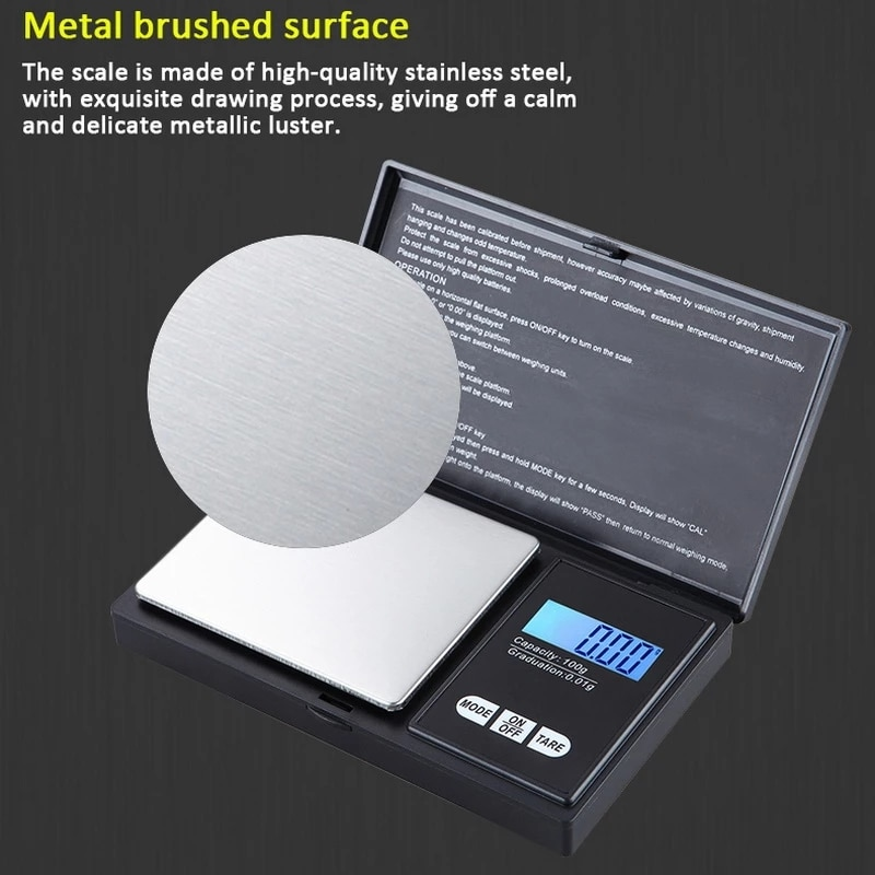 Precise 0.01g Digital Jewelry Scale LCD Display Mini Pocket Electronic Scales Gram Weight For Kitche