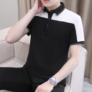 Classic Summer New Men's Polo Shirt 95% Cotton Fabric Business Short-Sleeved Polo Shirt Casual Breathable Top Tees Clothes Homme