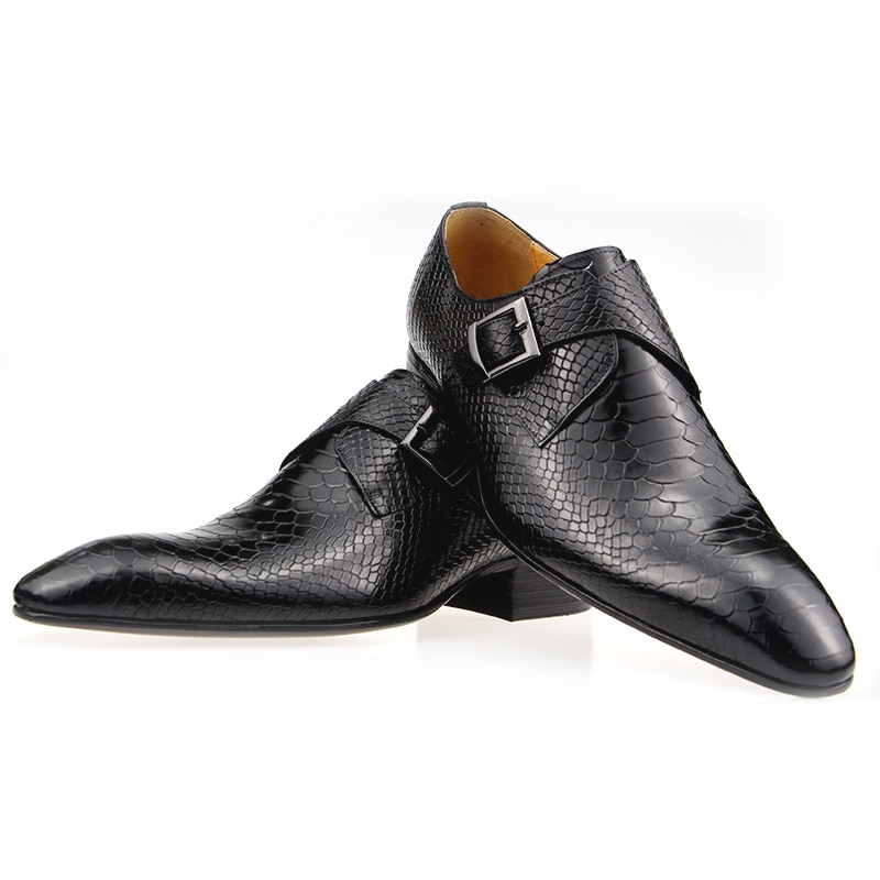 Men's Shoes Formal Leather Zapatos Social Shoe Male Man Shoes Leather Wedding Dress Oxford Shoes for Office Shoes Buckle Strap