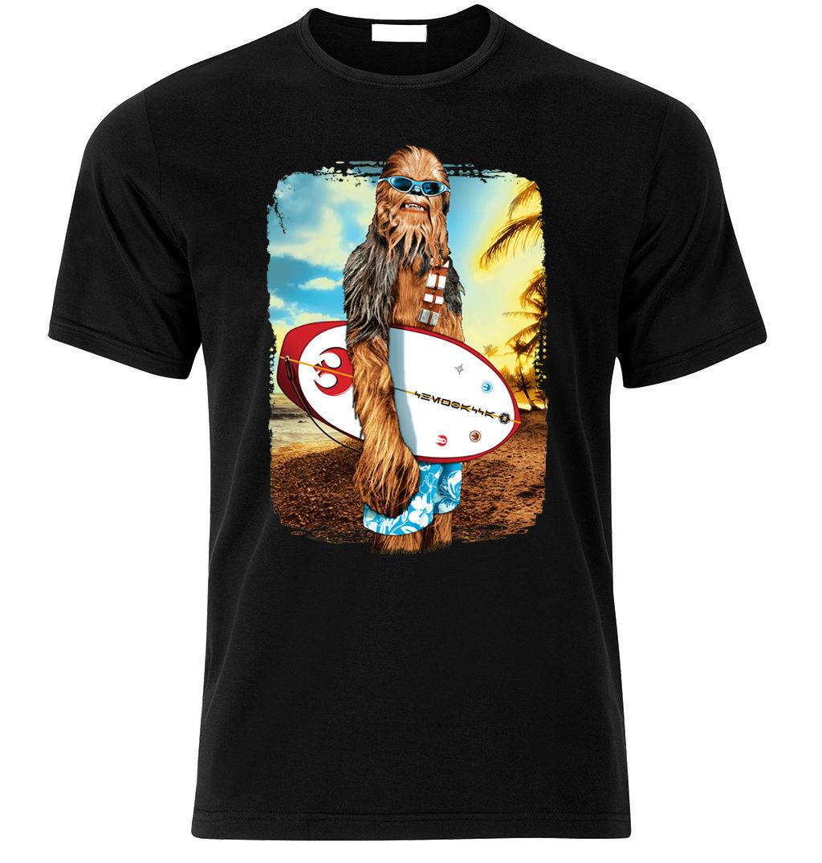 Wookie chewbacca chewi star wars surfinger camisa fã presente tamanho S-3XL manga curta algodão t camisas homem roupas topo t
