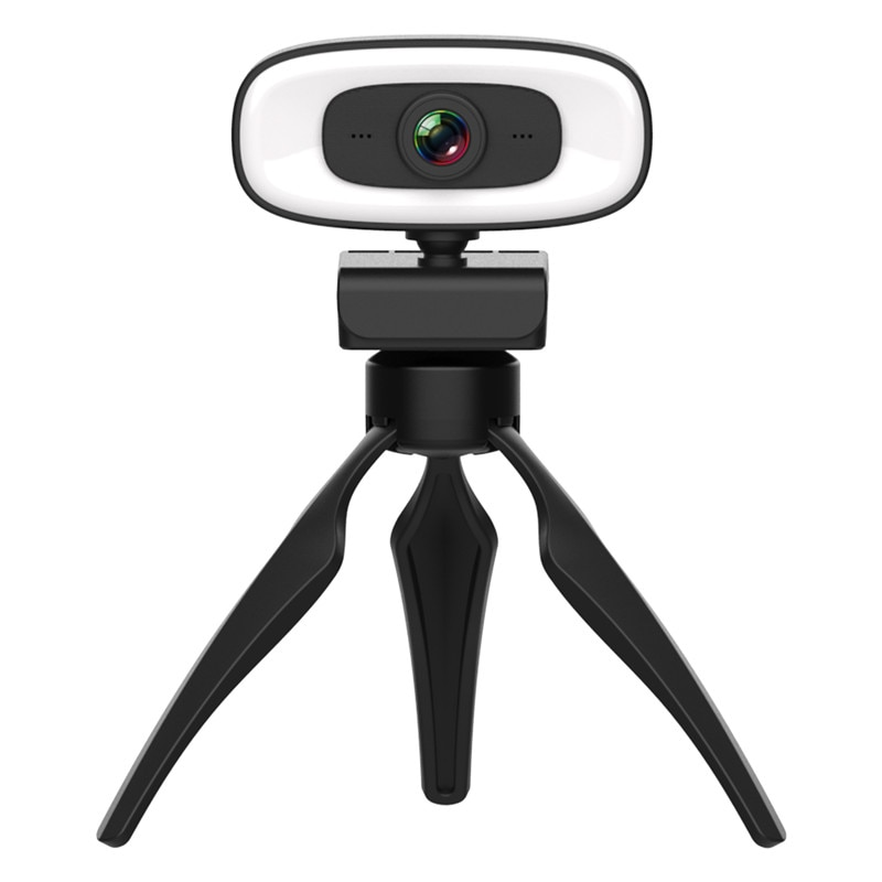 سوبر كامل HD 2K 4MP USB الكمبيوتر كاميرا ويب كاميرا ويب مع ترايبود و مصباح مصمم على شكل حلقة لمؤتمر دعوة الفيديو
