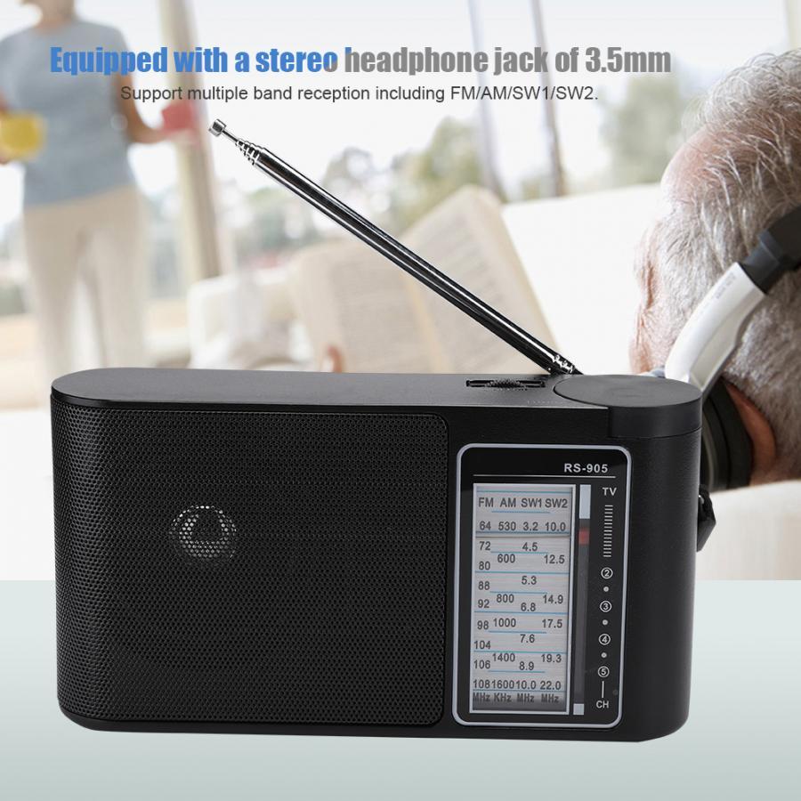 Портативный многодиапазонный FM/AM/SW1/SW2 Высокочувствительный ручной настраиваемый профессиональный радио цифровой радиоприемник